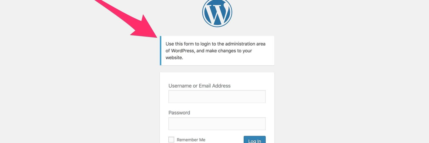 wordpress-custom-login-message-example