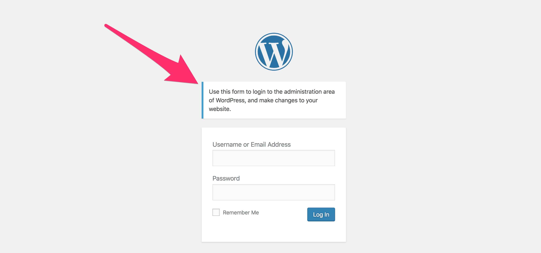 wordpress-custom-login-message-example